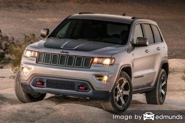 Insurance rates Jeep Grand Cherokee in Austin